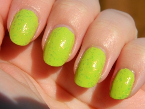 L.O.L. with flakie topcoat